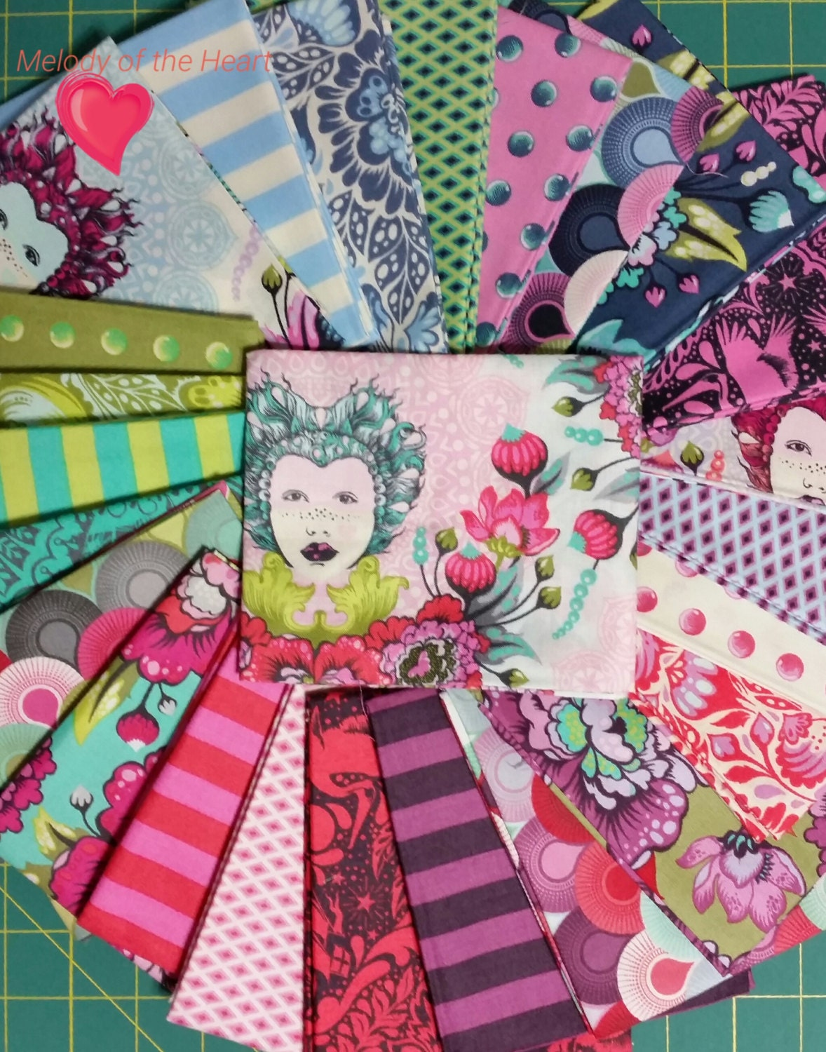 Tula pink sale elizabeth 25 fq set modern quilting fabric bats for Quilting fabric sale