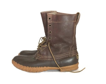 Vintage LL Bean Boots, Maine Hunting Shoe, Mens 10 D Duck Boots