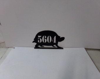 Box Turtle 003 Mailbox Topper Metal Animal Silhouette