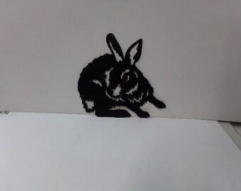 Bunny Rabbit Small Metal Wall Art Silhouette