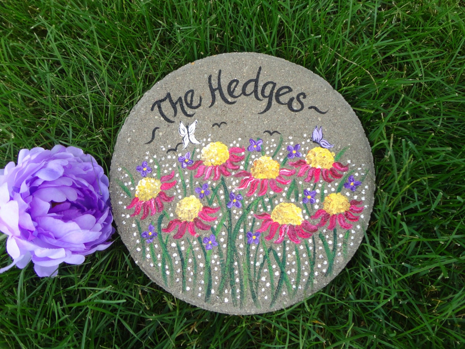 Wedding gift bride and groom gift personalized garden stone - Personalized garden stepping stones ...