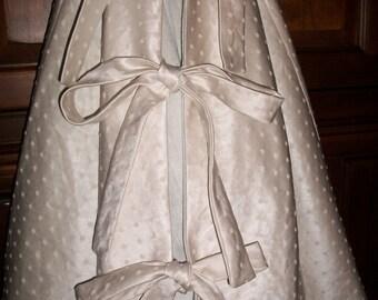 "AMAZING 58""  Pearl White and Velvet Reversible Christmas Tree Skirt 2016 Collection"
