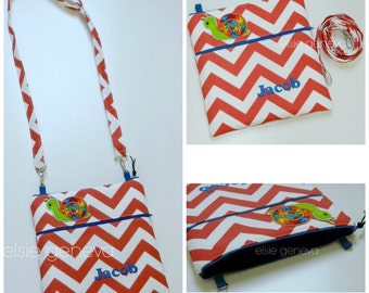 Design Your Own Children's iPad Tablet Purse Patch Sleeve Shoulder Strap or Primary Colors Chevron Snail Royal Blue Orange Lime Green