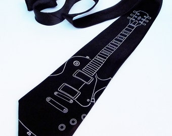 Men's Necktie - Electric Guitar Tie - Premium Quality Microber Tie - Gift Wrapped - Choose color and quantity