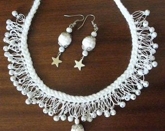 White Shaky Necklace. For Christmas