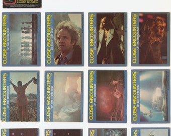 13 Close Encounters of the Third Kind trading cards 12 from 1977 (#2, 3, 4, 6, 7, 8, 11, 12, 16, 17, 19, 20) & 1 from 1978 (#7) Terri Garr