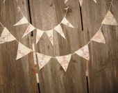 Pennant Banner Bunting Garland Antique Quilt Cottage Decor Decorations Glamping Gift Primitive Quilt