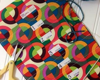 Spinning Wheel, Hanging Circular Knitting Needle Holder, 8 x 26, 15 Channels