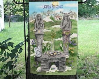 Ostara/Spring Equinox, Magical Art Garden Flag