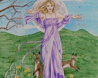 The Goddess Ostara Open Edition Print