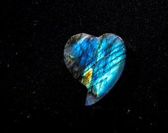Spectrolite heart shape 17.07 carats