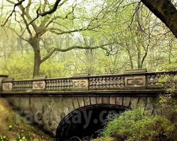 Spring Green, Central Park Photography, Glade Arch, New York Print,  Rustic Decor, Large Wall Art