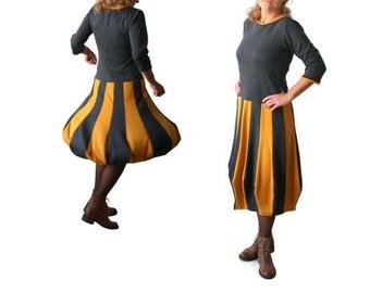 Plus size dress, Midi dress, Grey dress, Mustard dress, Womens dress, Long dress, Custom tulip dress, Handmade clothing, Plus size clothing