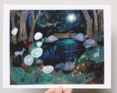 SECONDS SALE In the deep dark woods, 8.5 x 11