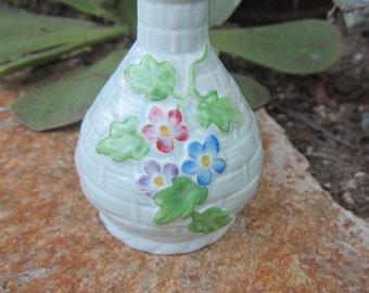 Vintage Hand Painted Bud Vase Crown Devon Made in England