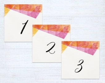 Table Numbers – Celebration