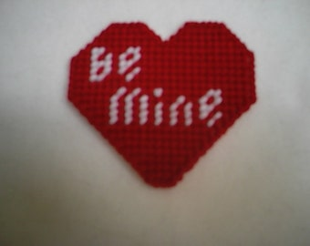 Be Mine Valentines Day Magnet PDF Plastic Canvas Pattern Holidays