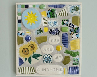 You Are My Sunshine Mosaic Wall Art