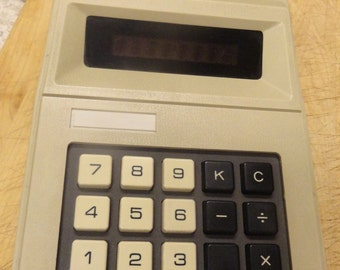 GO FIGURE Vintage 1980s Calculator JC Penney Japan Electric