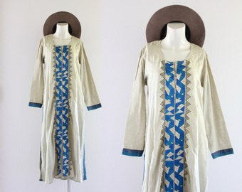 S A L E 1970's embroidered tunic dress