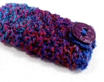 Knit Phone Sleeve Blue and Purple, Galaxy S7 Phone Case, Knit IPhone 6 Plus Sleeve, Knit Phone Sock, Galaxy Note, HTC 8X, LG, Galaxy Edge