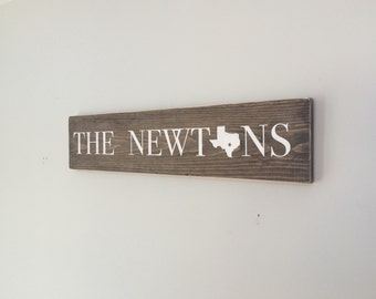 State Wall Decor, Wood Signs, State Silhouettes, Wall Decor, Home Decor, Family Name, Woodwork, Home, Reclaimed Wood, Living Room, Home