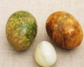 Eggs, Stone Eggs, Set of 3, Decorative Eggs, Collection, Carved Stone Eggs, Easter Eggs, Basket Eggs, Art Supplies, Craft Supplies