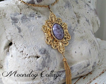 GoRGeouS GoLD and PuRPLe CaBaCHoN NeCKLaCe