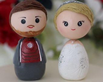 Custom Wedding Iron Man and bride toppers