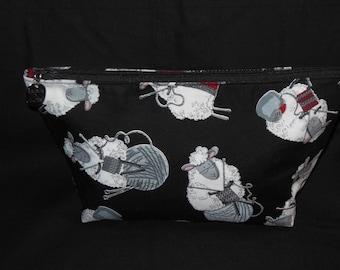 Knitting Sheep Zipper Bags