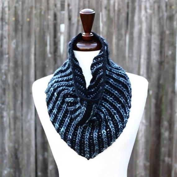 Bandana Cowl Knitting Pattern : Brioche Bandana Cowl Knitting Pattern PDF instant download