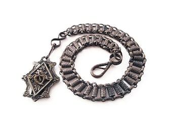 Knights of Pythias Belt Plate and Chain Regalia - Victorian, Edwardian, Fraternal Emblem, Secret Society, Calla Lily, Uniformed Rank