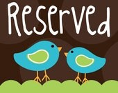 Reserved listing for T.
