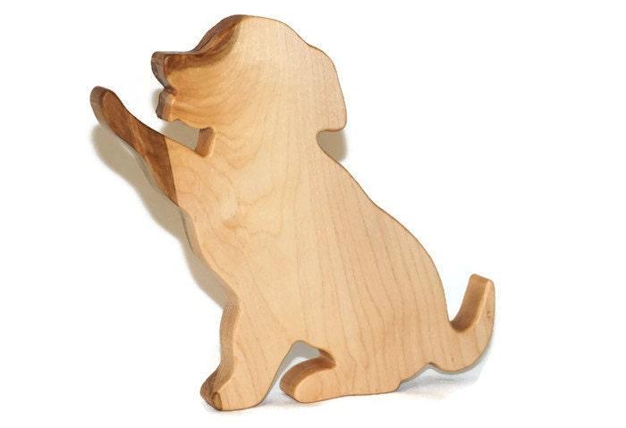 Dog Cutting Board Puppy Kitchen Decor Maple Wood Cutting