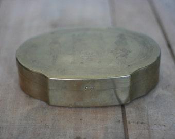 vintage schraffts brass candy box