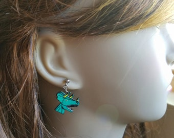 Triceratops Dinosaur Earrings