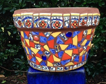 Colorful Mosaic Pot