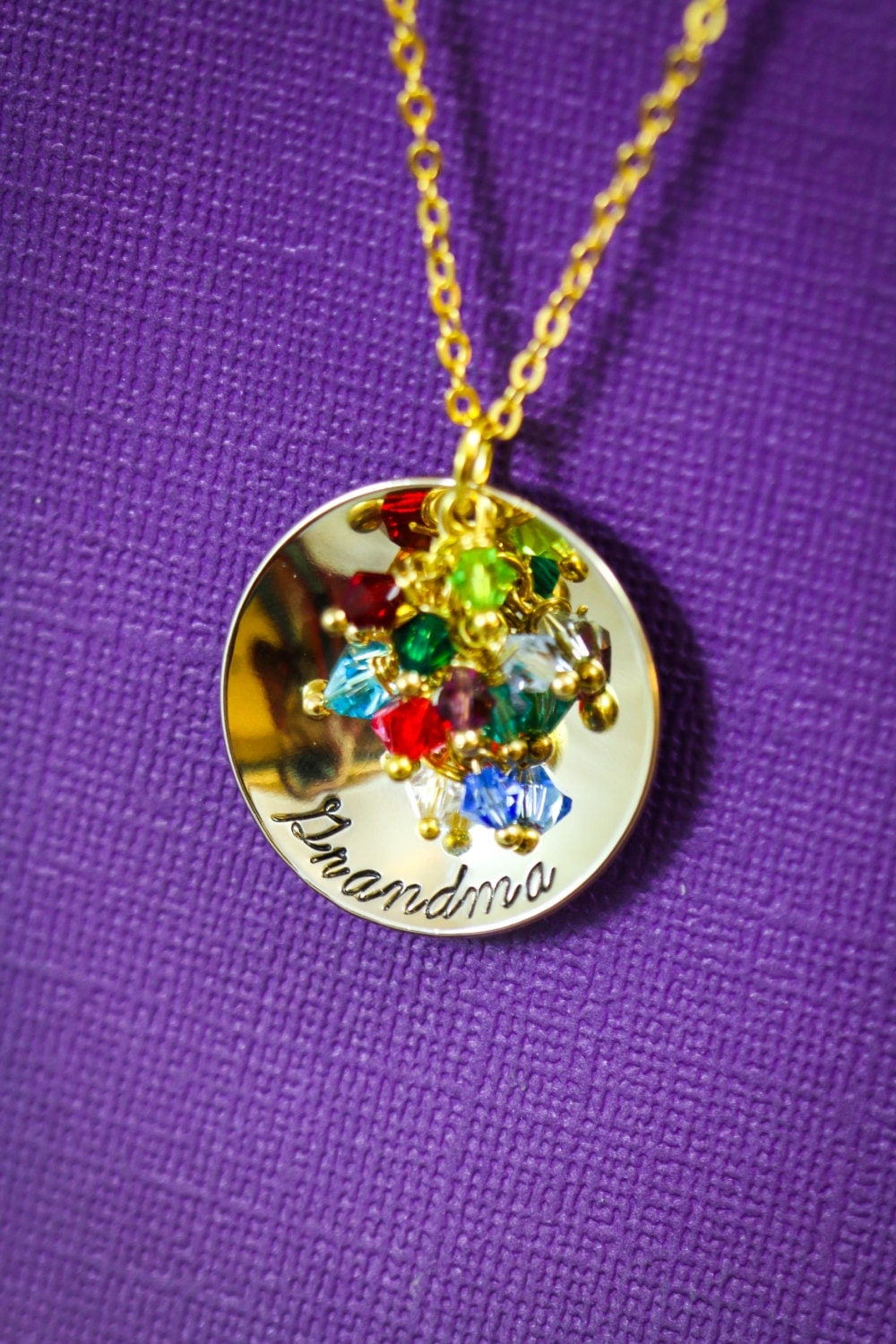 Personalized grandma gift grandmother necklace gold for Grandmother jewelry you can add to