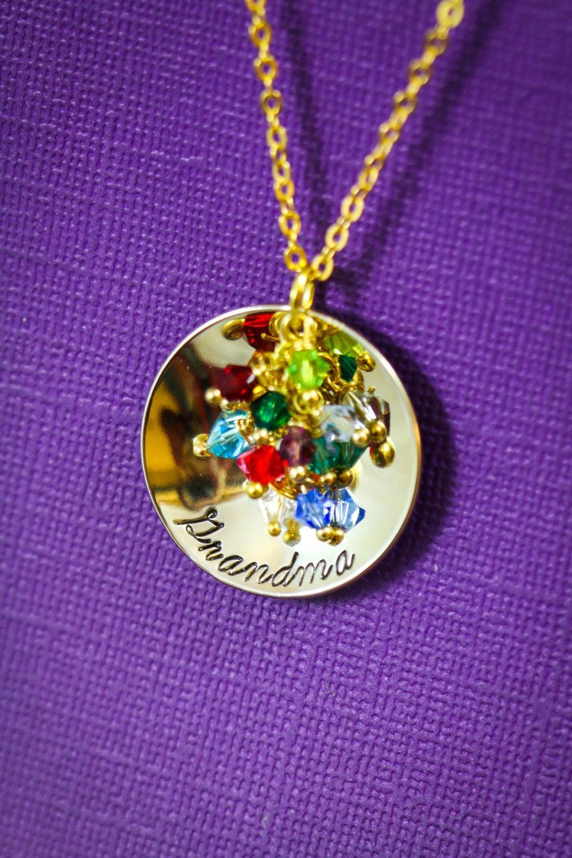 personalized grandma gift grandmother necklace gold. Black Bedroom Furniture Sets. Home Design Ideas