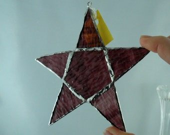 stained glass art - glass star - stained glass - stained glass star - stained glass ornament - stained glass sun catcher - Christmas gift