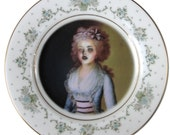 Zombie Contessa - Altered Vintage Plate 8.25""