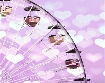 Ferris wheel photo, carnival photography, nursery room decor, kids room, Santa Monica