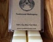 Teakwood Mahogany Soy Wax Tart Melts 6-Pack Clamshell - Extra Strength