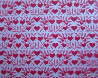 Hearts & Vines Chocolate Transfer Sheet