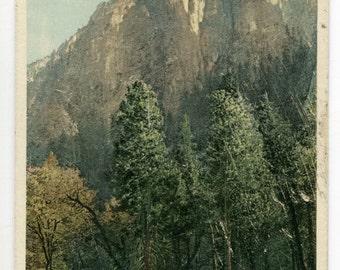 Cathedral Spires Yosemite Valley California 1910c Phostint postcard