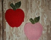 APPLE Baby Snap Clip - You Choose ONE - Pink or Red Apple Clip