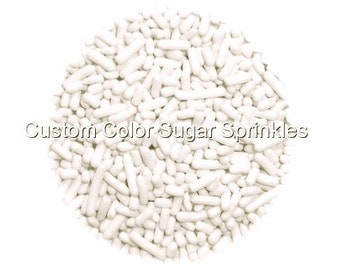 White Jimmies Edible Sprinkles Cookie Cakepop Cupcake Candy Confetti Decorations 2oz.