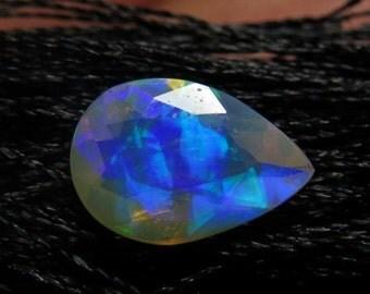 Ethiopian Welo OPAL - AAAAAAAAAA - High Quality Fine Cut Faceted Pear Stone Full Flashy Color Full Fire size - 7x10 mm
