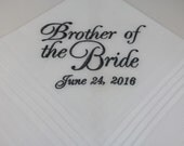 Brother of the Bride - Wedding Handkerchief - Embroidered - Wedding Gift - Simply Sweet Hankies
