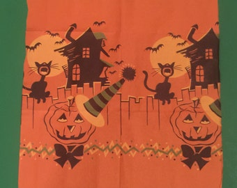 Vintage Scrap of Halloween Crepe Paper